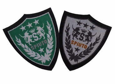 Leather Material Elegant Custom Clothing Patches With Hook And Loop