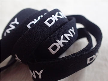 Black Underwear Elastic Band With Printing White Silicone Logo Environmental Protection