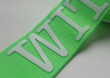 Customized Colored Logo Printing Manufacturers Elastic Book Band Jacquard Elastic